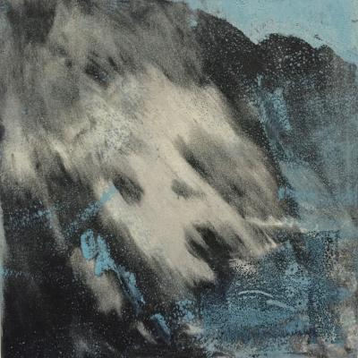 Winter storm 6x6 monotype