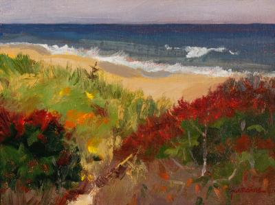 Newcomb hollow tideline 2017 oil 6x8  copy