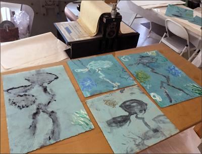 Monotypes in progress