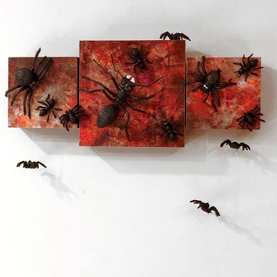 Ants do creep and spiders crawl in the house and up the wall